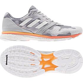 adidas Adizero Adios 4 Zapatillas Mujer, grey two/footwear white/hi-res coral